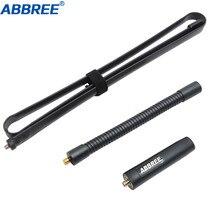"""Antena taktyczna typu """"gęsia szyja"""" ABBREE sma female dwuzakresowy VHF UHF 144/430Mhz składany do Baofeng UV 5R UV 82 BF 888S WalkieTalkie"""