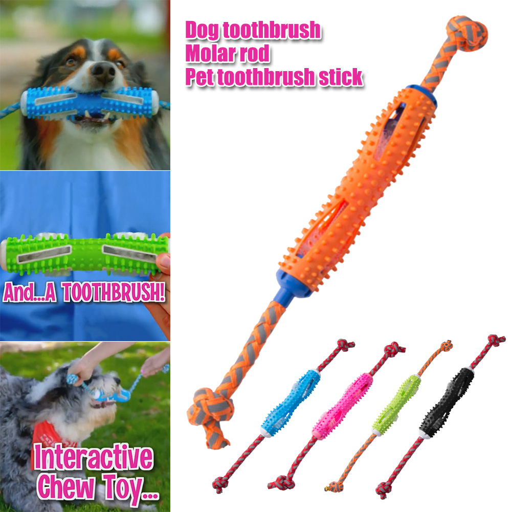 Spot Dog Toothbrush Stick Dog Chewing Toy Teeth Cleaner Brushing Stick Bite Resistant for Dogs Pet Oral Care Best Price image