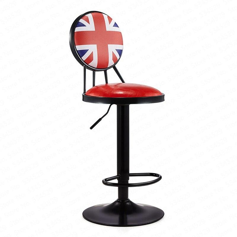 30%B Lift Bar Chair Wrought Iron Bar Stool European Style Chair High Stools Home Bar Stool Retro Coffee Front Desk Chair