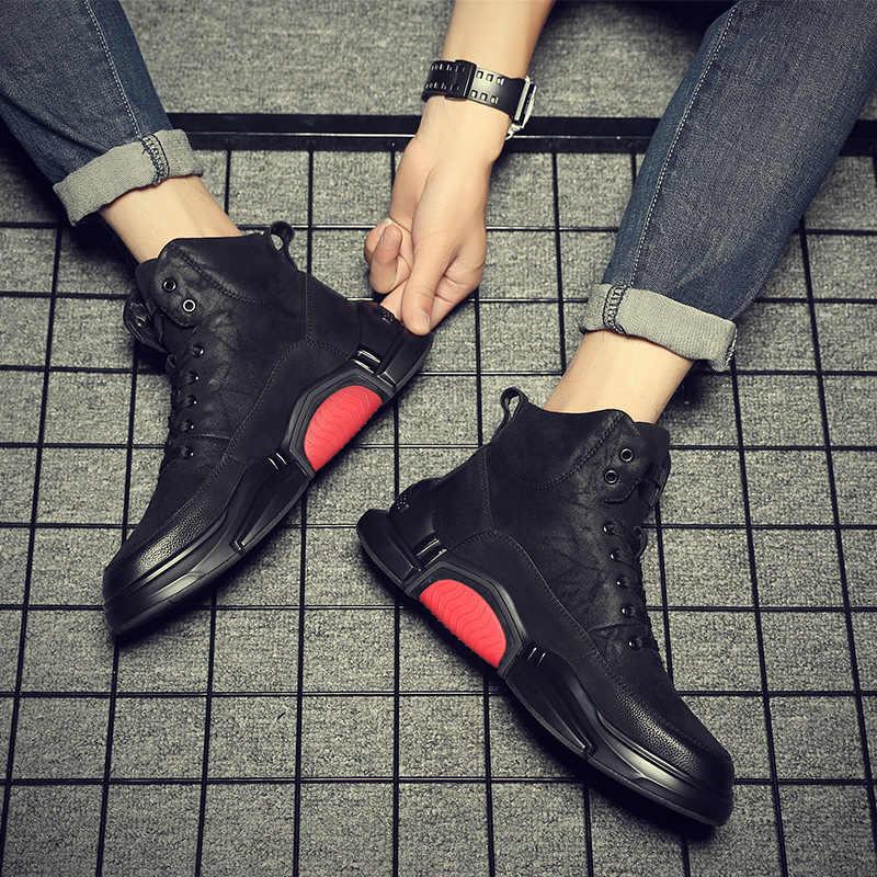 Jx829 100% botas de couro genuíno homens tornozelo botas de inverno de alta qualidade homens botas de neve manter quentes