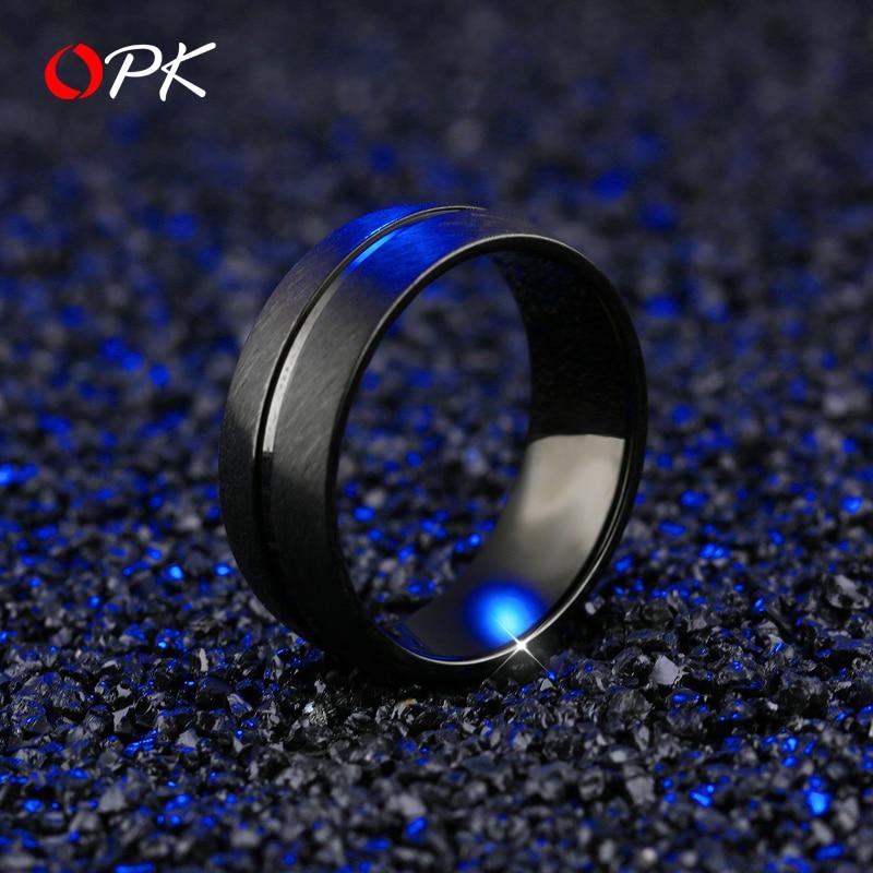 Hommes bijoux noir marée flux titane acier hommes anneau froid tritium gaz hip-hop auto-défense anneau personnalité trampoline accessoire