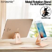 Metal rotasyon iPad tutucu için iPad 9.7 10.2 10.5 11 12.9 inç Tablet masaüstü standı Samsung Xiaomi Huawei telefonu tablet