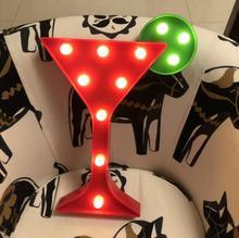 Led modelling lamp Flamingo cactus creative alphabet lamp