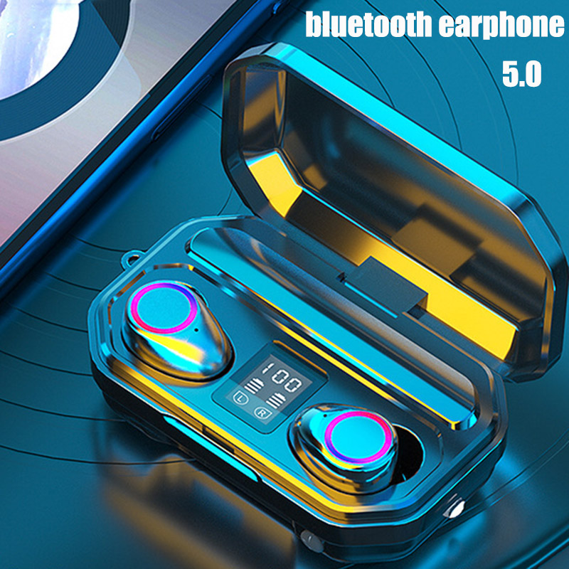 Беспроводные наушники с шумоподавлением 9D, Bluetooth спортивные наушники, Bluetooth 3300 мА/ч, наушники с сенсорным управлением, Bluetooth водонепроницаем...