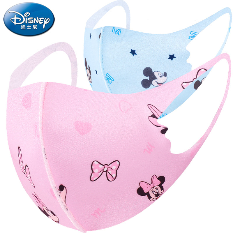 Disney Face Mouth Mask For Children Minnie Mouse Mickey Mouse Anti-Dust Protective Washable Face Mask For Boys Girls Kid Toy