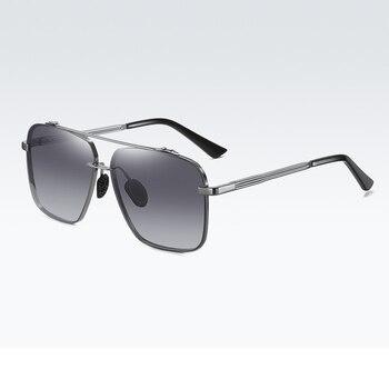 2020 Men Polarized Sunglasses Oversized Metal Frameless UV400 Driving Sunglasses Night Vision Glasses With Box