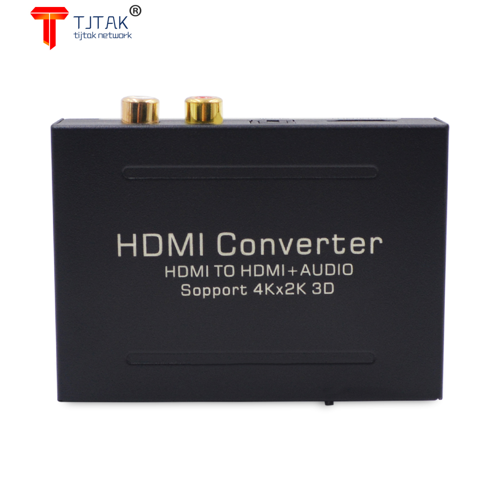 Tjtak HDMI-compatible Audio Extractor to HDMI-compatible Optical Toslink Audio Video Converter Splitter with 4K@30Hz 1080P HD