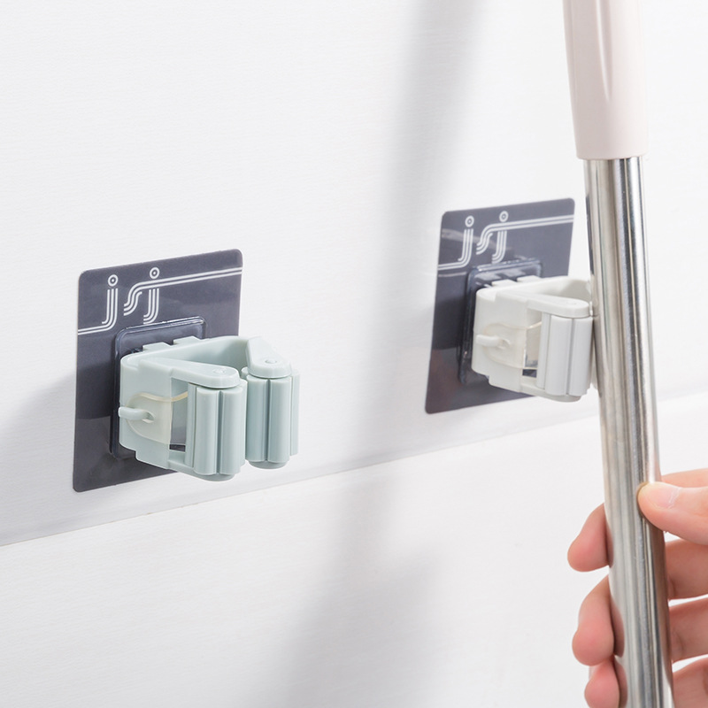 Magic Stick Strong Hook Adhesive Multi-Purpose Hooks Wall Mounted Mop Organizer Holder RackBrush Broom Kitchen Bathroom Hooks