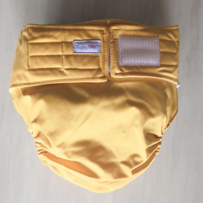 Многоразовые подгузники для взрослых для пожилых людей и людей с ограниченными возможностями, большие размеры, регулируемые термополиуретановые пальто, водонепроницаемая одежда для недержания - Цвет: yellow
