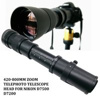 420-800mm F/8.3-16 Telefoto Zoom Lens para Nikon DSLR Camera D5100 D5300 D5200 D7500 D3300 D3400 D3200 D90 D7200 D5600 D3X