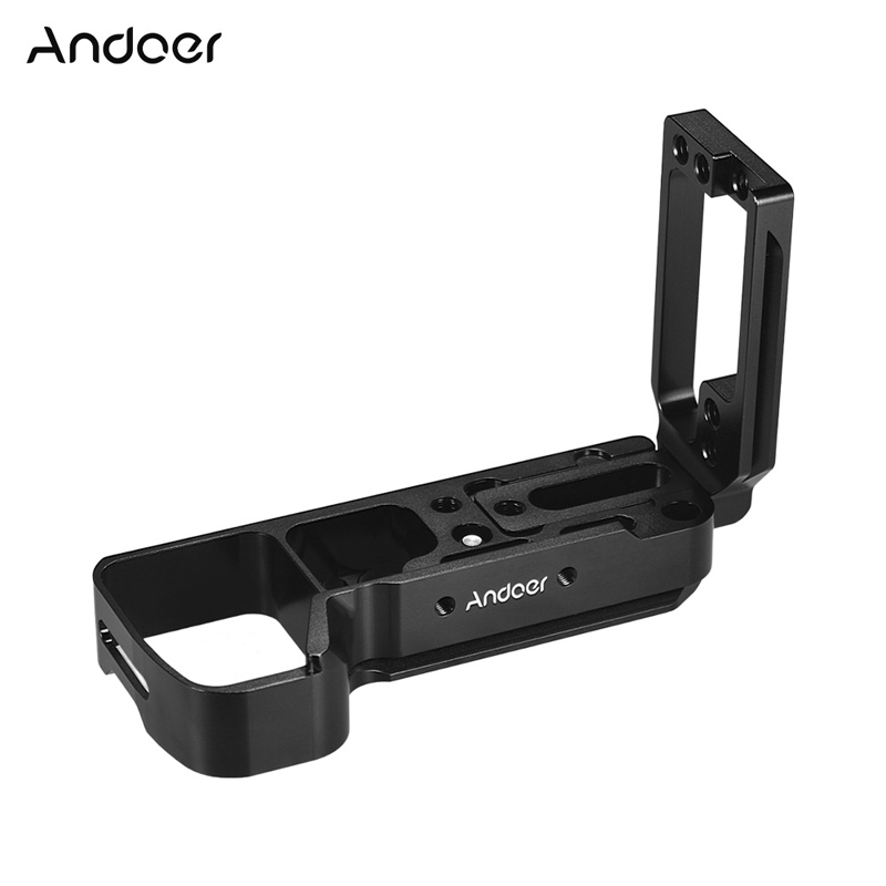 Andoer L-shaped Alloy Quick Release Plate L Bracket Plate Baseplate With Side Plate For Sony A7III A7MIII A7RIII A9 ILDC Cameras