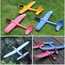 Hand Throw Airplane Foam Launch Fly Glider Planes Model Aircraft Outdoor Toys Children Party Game Kinderspielzeug Toys BY50WJ