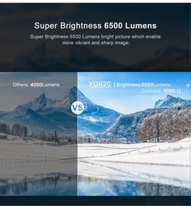 Image 5 - جهاز عرض كامل HD من AAO أصلي 1080p جهاز عرض YG620 LED Proyector 1920x1080P فيديو ثلاثي الأبعاد YG621 لاسلكي متعدد الشاشات مزود بخاصية WiFi المسرح المنزلي متعاطي المخدرات
