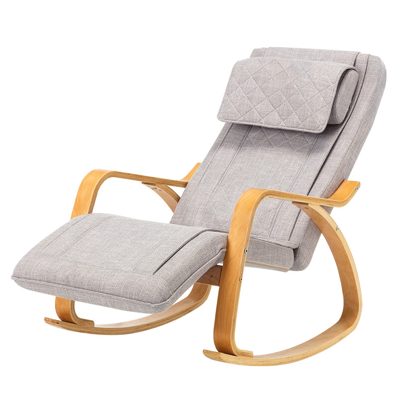 Modern Massage Chair 3D Full Back Rocking Armchair Vibrating Function 8 Massage Modes Rocking Chaise Lounge Chair For Elder