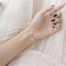 925 sterling silver bracelet Lovely and sweet little stars Womens fashion jewelry wholesale