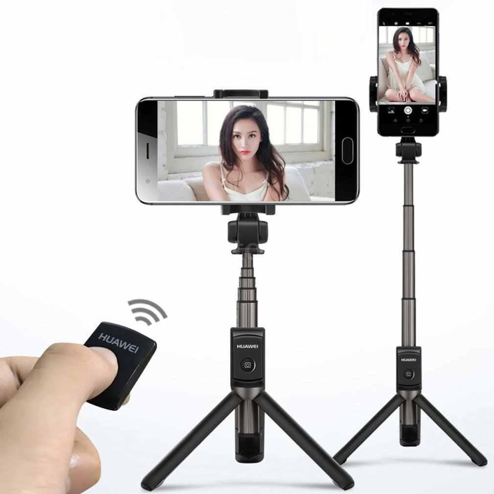 Huawei AF15 360 Derajat Rotasi Selfie Stick Tripod Portable Nirkabel Bluetooth Monopod AF15