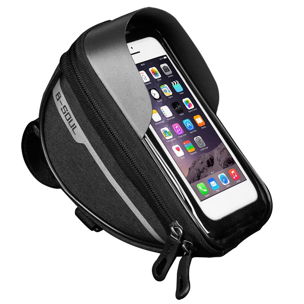 Vélo vélo vélo tête Tube guidon cellule téléphone portable sac étui support étui sacoche étanche écran tactile vélo sac