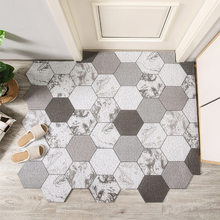Домашний Коврик для двери в простом стиле с геометрическим рисунком, коврик из ПВХ с шелковой петлей, напольные коврики, коврики для прихоже...
