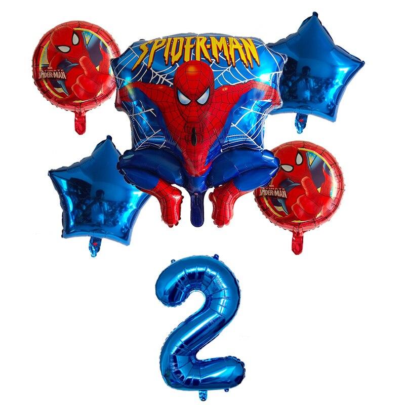 Гелиевые шары из фольги Человека паука, 6 шт., вечерние надувные шары с номером 30 для мальчиков, украшения для детских игрушек, Звездные воздушные шары Воздушные шары и аксессуары      АлиЭкспресс