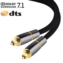 Digital Optical Audio Cable Toslink 5.1 SPDIF For DVD Xbox 3