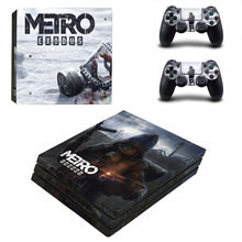 Metro Exodus Style Skin Sticker for PS4 Pro Console And Controllers Decal Vinyl Skins Cover YSP4P-3319