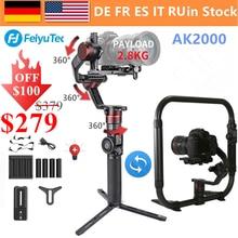 Używany Feiyu AK2000 3 Axis Camera Handheld Gimbal stabilizator MaxLoad 2.8KG dla Nikon D850 Sony A9 A7III A7S A7R Canon 5diii 5DSR