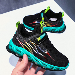 Image 4 - Kids Running Shoes Boys Basket Sneakers Men Sports Shoes For Girls Breathable Trainers Children Walking Jogging Hombre Footwear