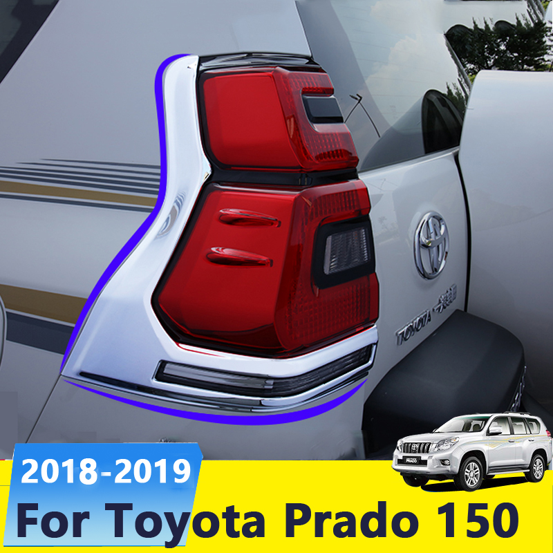 Chrome voiture arrière cadre d'immatriculation plaque couvercle garniture Protection étui pour Toyota Land Cruiser Prado 150 2018 2019 accessoires extérieurs