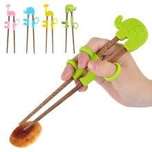 Детский помощник для обучения, портативные учебные палочки с героями мультфильмов, детские палочки для еды, пластиковые детские палочки для еды