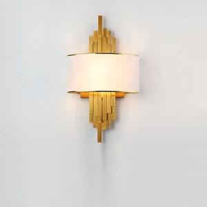 Image 2 - ท่อโลหะห้องนั่งเล่นLed Wall Light Gold/สีดำห้องนอนโคมไฟผนังSconce Loft Home Deco 90 260V Nordicโคมไฟ
