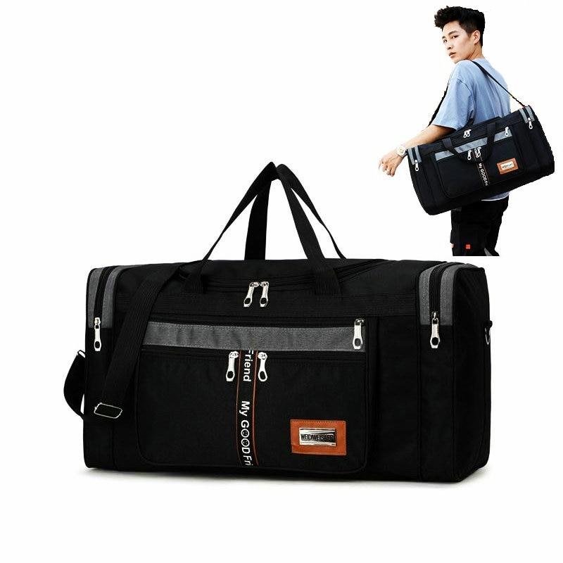 Big Fitness Bags Luggage Travel Bag Waterproof Oxford Sport Training Bags Men Gym Fitness Handbag Traving Storage Duffel Bags
