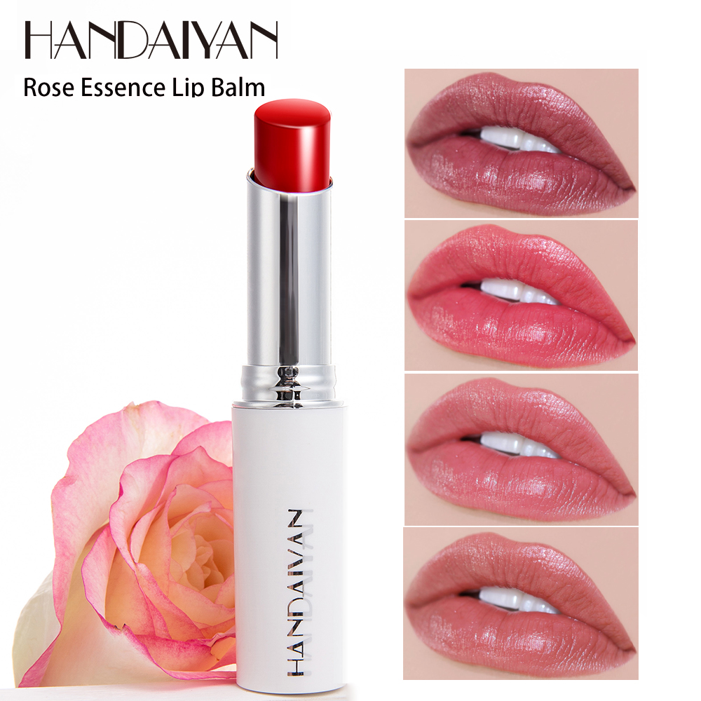 Easy Makeup Maquiagem With Natural Rose Essence Moisturizing Lipstick Soft Lip Cream Take Care Lips Long Lasting Baton Lipstick