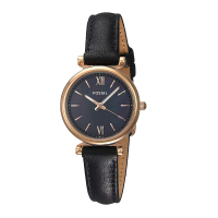 Fossil Womens Watches Carlie Mini Three Hand Watch with Black Leather Ladies Luxury Watch Casual Dress ES4700