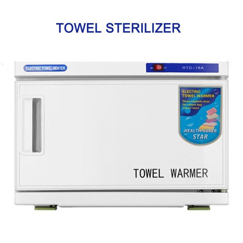 16L Towel Sterilizer 2 In 1 Towel Warmer Sterilization Cabinet For Facial Salon Spa Towel Machine Hot Towel Cabinet  110v/220v