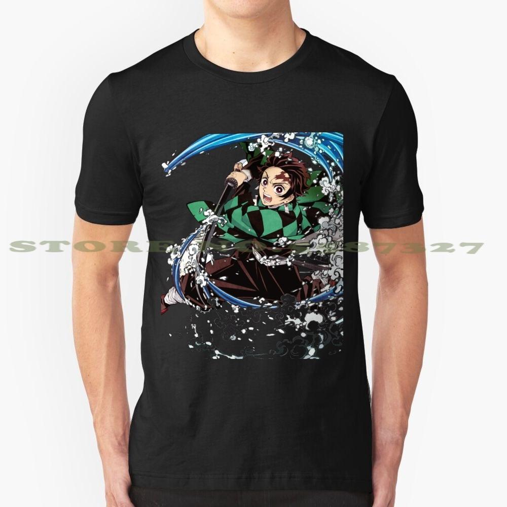 Tanjiro mode Vintage t-shirt t-shirts démon Kata Tanjiro bataille douce Katana eau Dragon Waterdragon bleu vert noir fumée
