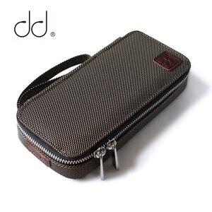 DD C-2019 (brązowy) dostosowany futerał do przenoszenia HiFi dla audiofilów, słuchawek i kabli worek do przechowywania, odtwarzacz muzyczny futerał ochronny