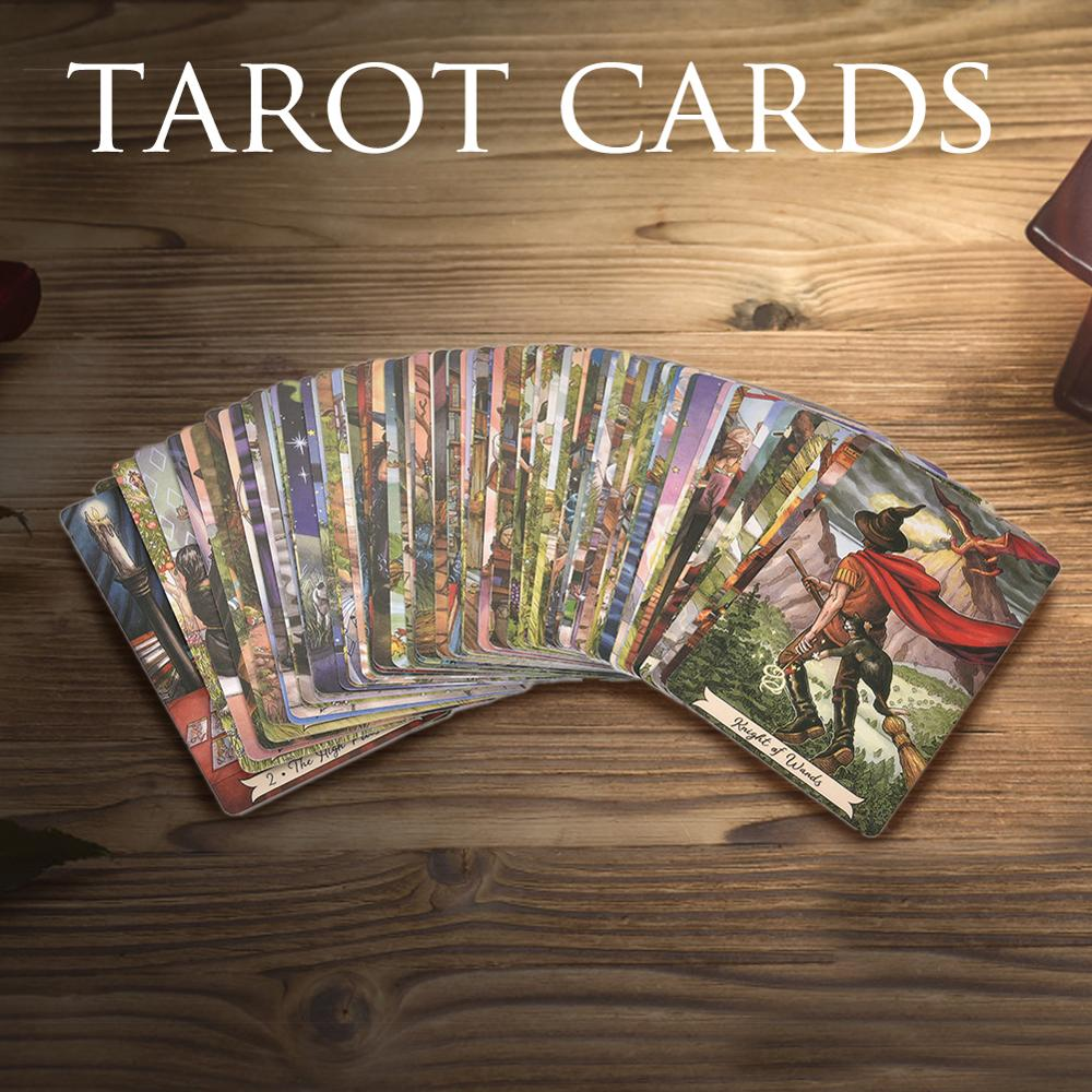 78pcs Magic Tarot Cards Deck Playing Card Everyday Witch Blake Tarot Card With Colorful Box Cards Game Family Party Board Game