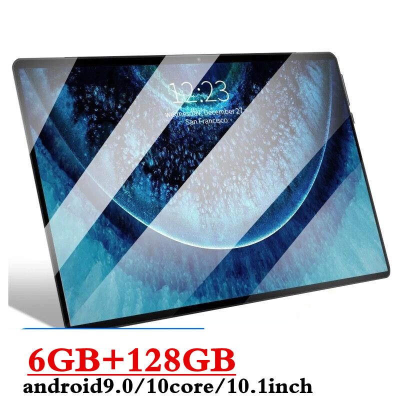 Newest 10.1 Inch tablet Android 9.0 10 Core 6GB RAM 128GB ROM 3G 4G LTE Wifi Bluetooth GPS Phone call 2.5D Screen Tablet pc