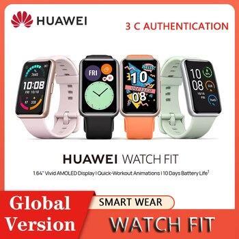 """HUAWEI-reloj inteligente FIT con Pantalla AMOLED de 1,64 """", pulsera inteligente con control del ritmo cardíaco, control del oxígeno y de las 24 horas, entrenamiento rápido, 2020"""