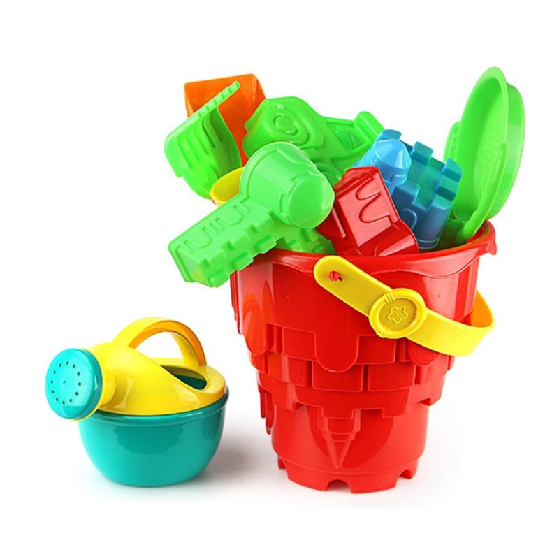 Beach Toys Castle Model For Children SandBox Set Kit Sea Sand Bucket Rake Hourglass Water Table Play Fun Shovel Mold Summer Gift