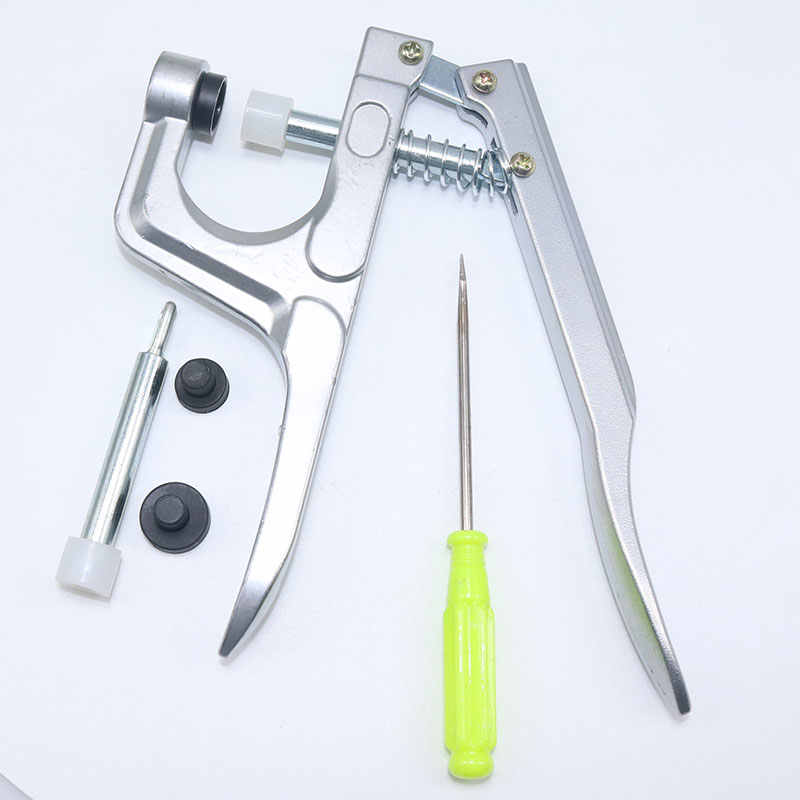 Alicates de presión de Metal de 1 uds, herramienta DIY de instalación de botón a presión de plástico, accesorios de costura de botón T3T5T8, alicates de presión de botón a presión