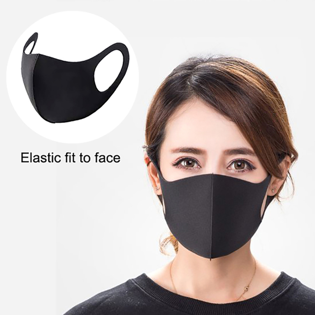 1pcs 3D Protective Mask Solid Color Face Mouth Masks Dust Proof Windproof Mouth-Muffle Bacteria Proof Flu Earloop Face Mask Care 1