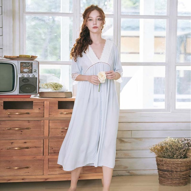 Roseheart kobiety biała seksowna bielizna nocna sukienka wieczorowa koronkowa Homewear bielizna nocna luksusowa koszula nocna kobieca suknia sądowa bawełniana
