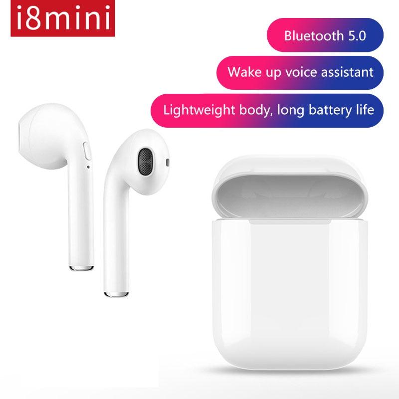 Image 2 - I8mini Mini Bluetooth Headset Binaural Stereo Sound Pop up Window TWS Wireless Bluetooth 5.0 Earphone With 400 mAh Changing Bin-in Bluetooth Earphones & Headphones from Consumer Electronics