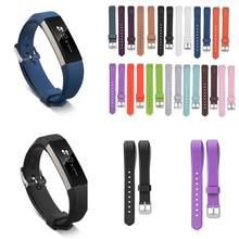 Banda de relógio para fitbit alta hr substituição inteligente pulseira de relógio do esporte das mulheres dos homens starp silicone pulseira de pulso