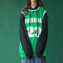 Patchwork Hoodies Women Sweatshirts Oversized Woman Pullove Hoodie Tops Long Sleeve Womens Sweatshirt Female Clothes