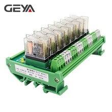 GEYA NG2R 8 Channel Relay Board 12V 24V Relay Board Remote Control Relay Module AC DC 1NO1NC dc 12v 8 channel rs485 relay command programmable control module board