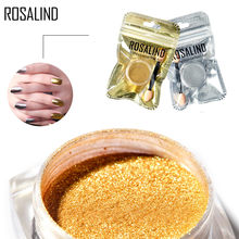 ROSALIND 1g Mirror Glitter Nail Chrome Pigment Shell Dazzling DIY Salon Micro Holographic Powder Laser Nail Art Decorations(China)