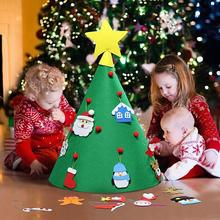 DIY Felt Christmas Tree 3D Toddlers Children Xmas Gifts New Year 2019 Home Decoration Hanging Ornaments