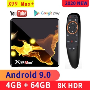 X99 Max Plus TV BOX Android 9.0 Amlogic S905X3 Quad Core 4GB RAM 32GB 64GB Wifi 1000M BT 8K Set top box media player PK X96 MAX